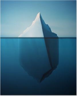 Poster Einsame Eisberg