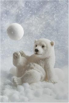 Poster Eisbär-Dekoration