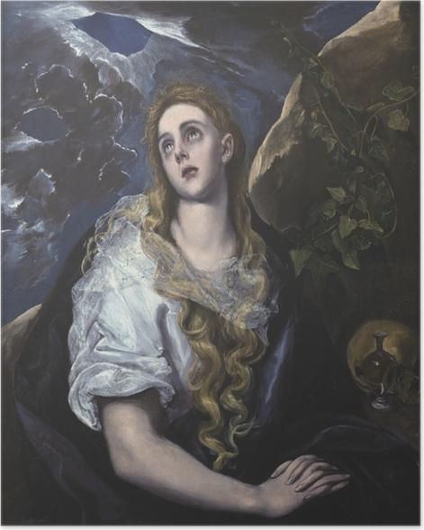 Poster El Greco - Büßende Magdalena - Reproduktion
