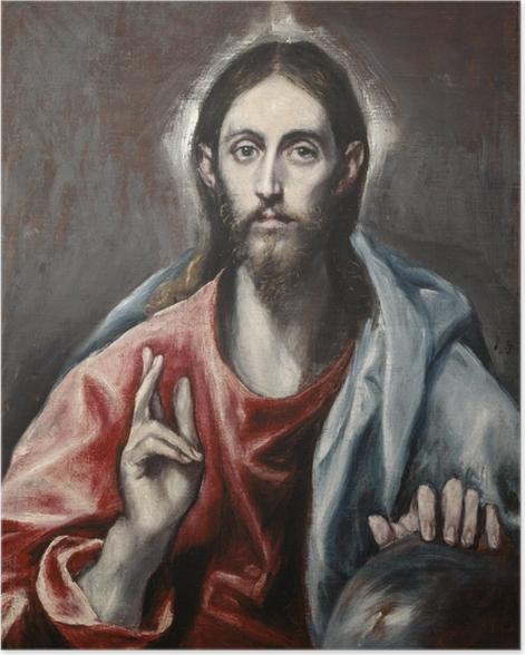 Poster El Greco - Christus der Erlöser - Reproduktion