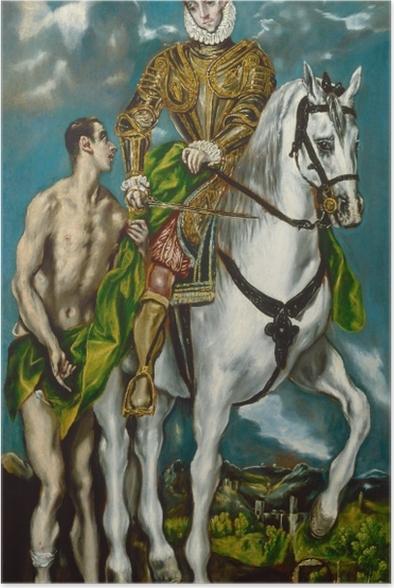 Poster El Greco - Der heilige Martin und der Bettler - Reproduktion
