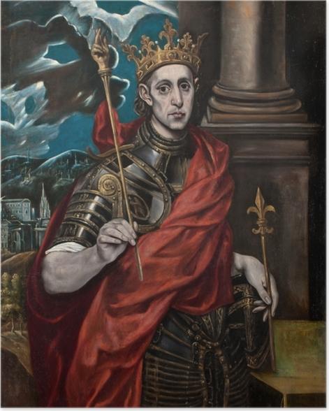 Poster El Greco - Der hl. Ludwig, König von Frankreich, mit einem Pagen - Reproduktion