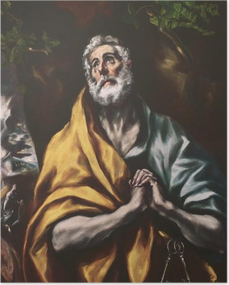 Poster El Greco - Der reuige heilige Petrus - Reproduktion