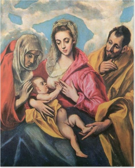 Poster El Greco - Die hl. Familie mit der hl. Anna - Reproduktion