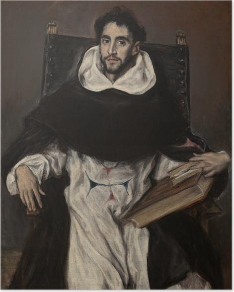 Poster El Greco - Porträt des Fray Hortensio Félix Paravicino - Reproduktion