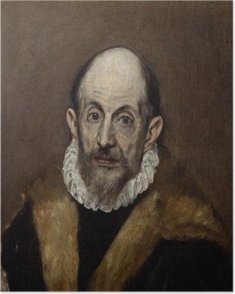 Poster El Greco - Porträt eines älteren Mannes - Reproduktion