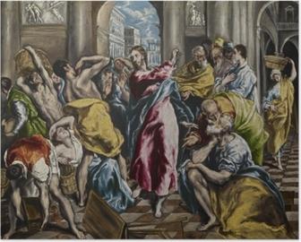 Poster El Greco - Tempelreinigung