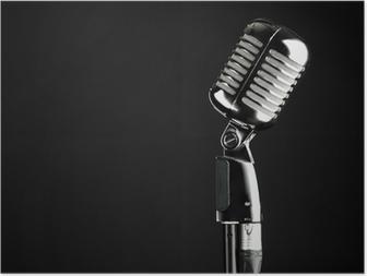 Poster Elvis Mikrofon