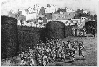 Poster Fallen die Mauern von Jericho - Biblische Szene