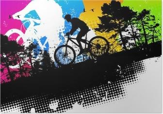 Poster Farbige Mountainbike abstrakten Hintergrund