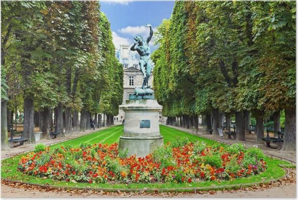 Poster fauno danzante. giardini di lussemburgo jardin du luxembourg