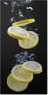 Poster Fetta di limone in acqua