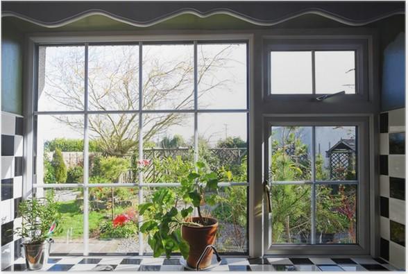 Poster Finestra della cucina con la vista sul giardino • Pixers ...