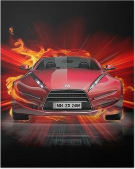 Poster Fire car