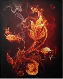 Poster Fire Flower