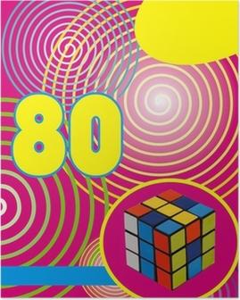 Poster Fond années 80 rumikub