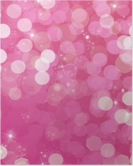 Poster Fond rose et paillettes - vie en rose