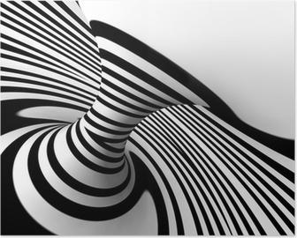 Poster Fondo abstracto lineas della truffa