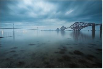Poster Forth Brücken in Edinburgh, Schottland