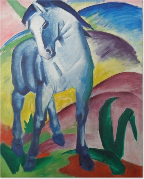 Poster Franz Marc - Der Turm der blauen Pferde - Reproductions