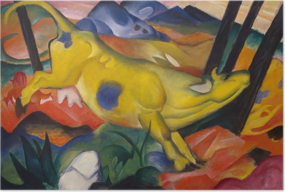 Poster Franz Marc - Die Gelbe Kuh - Reproductions
