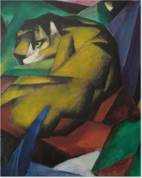 Poster Franz Marc - Tiger - Reproductions