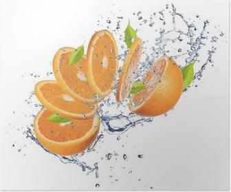 Poster Fresh orange