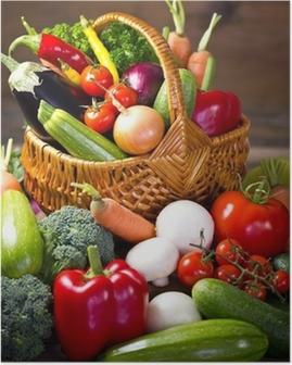 Poster Frische, Bio-Gemüse im Korb