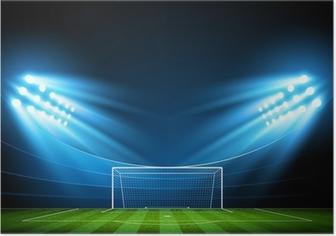 Poster Fußball-Arena. Vektor