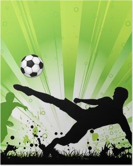 Poster Fußball-Spieler auf Grunge Hintergrund
