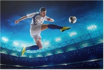 Poster Fußballspieler in Aktion