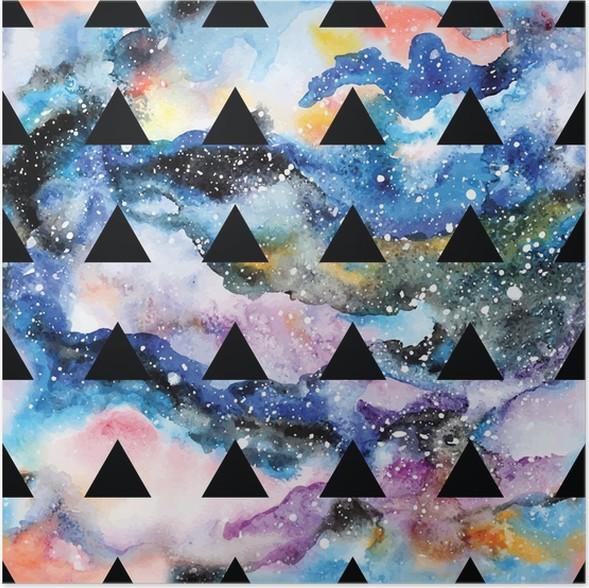 poster galaxy nahtlose muster - Galaxy Muster