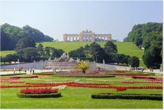 Poster Gärten von Schloss Schönbrunn, Wien, Österreich