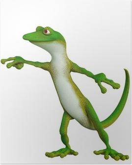 Poster Gecko Zeige