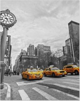 Poster Gelbe Taxis auf einer New Yorker Straße