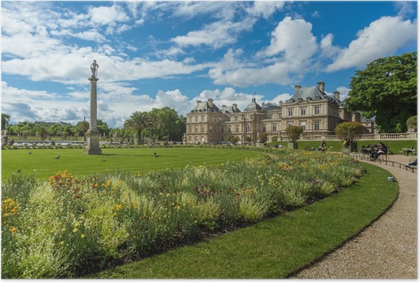 Poster giardini di lussemburgo jardin du luxembourg a parigi