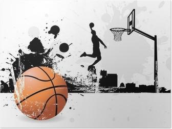 Poster Giocatore di basket
