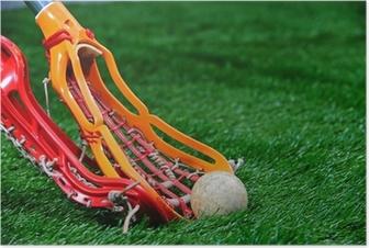 Poster Girls Lacrosse Sticks Kampf um den Ball