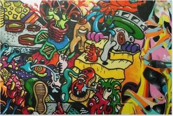 Poster Graffiti-Kunst urbain