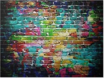 Poster Graffiti-Mauer