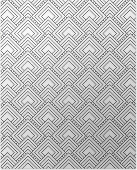 Poster Grau quadratischen Fliesen Muster-Wiederholung Hintergrund ...