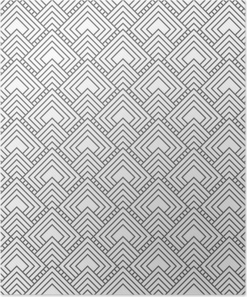 Poster Grau Quadratischen Fliesen MusterWiederholung Hintergrund - Fliesen grau quadratisch