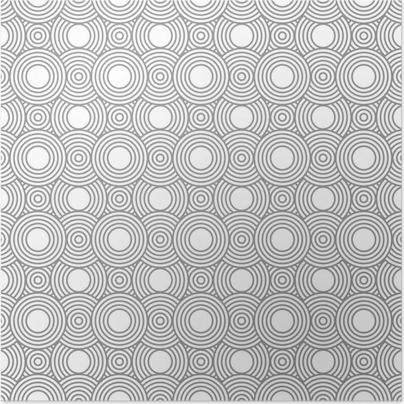 Poster Graue und weiße Kreise Fliesen Muster-Wiederholung ...