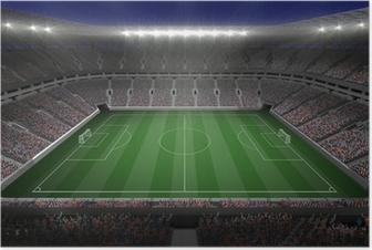 Poster Große Fußball-Stadion mit Lichtern