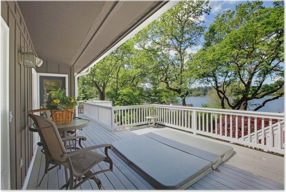 poster gro e langen balkon home au en mit whirlpool pixers wir leben um zu ver ndern. Black Bedroom Furniture Sets. Home Design Ideas