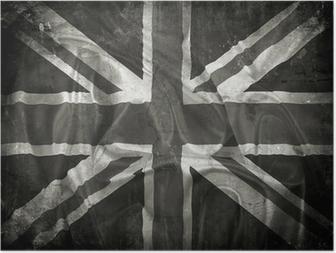 Poster Grunge Union Jack flag background