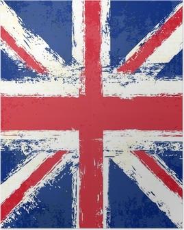 Poster Grunge Union Jack