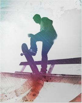 Poster Grungy Skateboarder