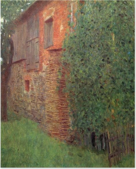 Poster Gustav Klimt - Bauernhaus in Kammer am Attersee (Mühle) - Reproduktion
