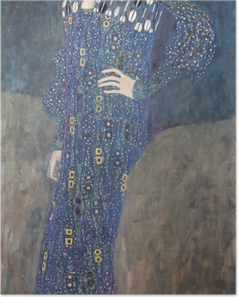Poster Gustav Klimt - Bildnis der Emilie Flöge - Reproduktion